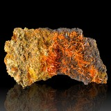 """4.0"""" Sizzling Red CROCOITE Terminated Square..."""