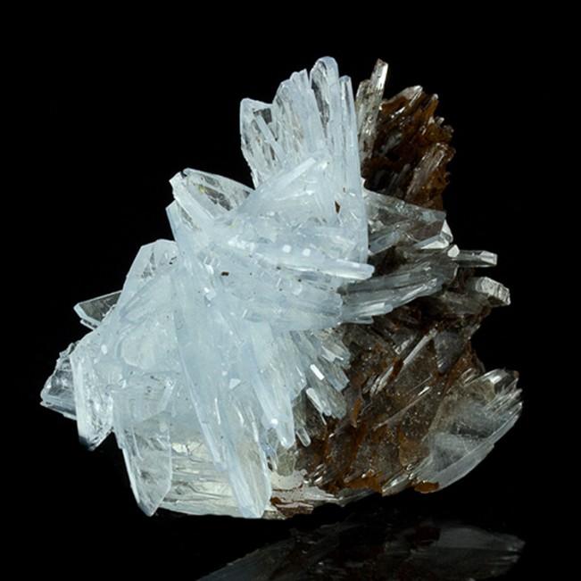 "2.3"" Rich Sky Blue BARITE Crystal Sprays Undamaged Terminations Morocco for sale"