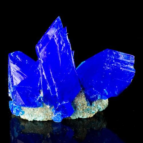 """3.2"""" Lustrous Sharp Electric Blue CHALCANTHIT..."""