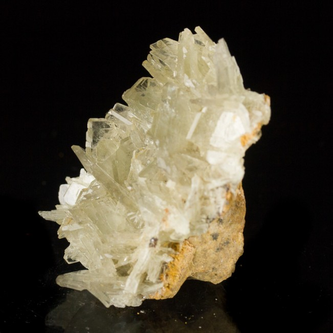 """2.3"""" See-Through Clear BARITE Cluster Crystals on Edge Miraflores Peru-for sale"""