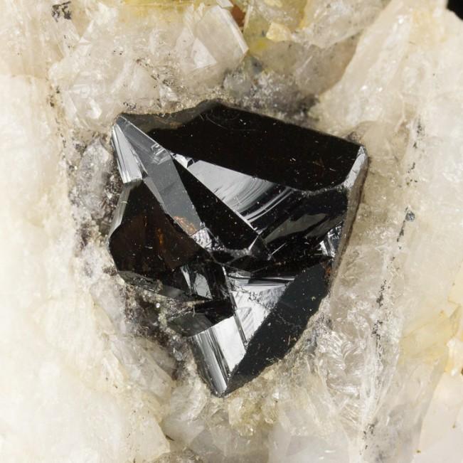 """2.9"""" CASSITERITE Crystals on Quartz Horni Sla..."""