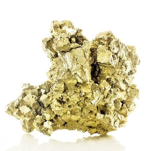 "5.5"" PYRITE Gleaming Brassy Gold Crystals Ura..."