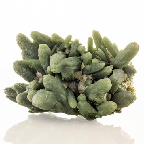 "2"" Green PRASE QUARTZ Crystals withActinolite..."