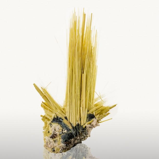 "2.1"" Golden Crystal Needles of RUTILE Growing..."
