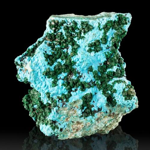 "2.6"" Turquoise Blue CHRYSOCOLLA w-MALACHITE B..."