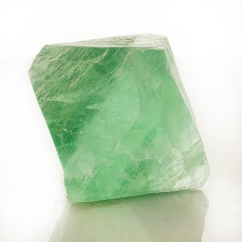 """2.1"""" Transparent Gum Drop Green FLUORITE OCTA..."""
