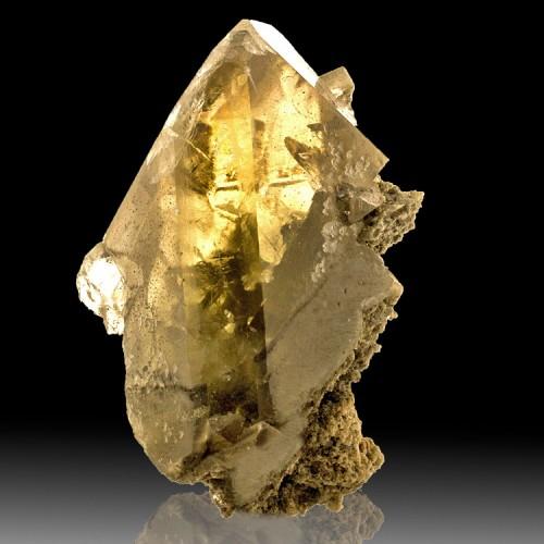 """3.1"""" Gem Clear BARITE CRYSTAL Shiny Golden Gr..."""