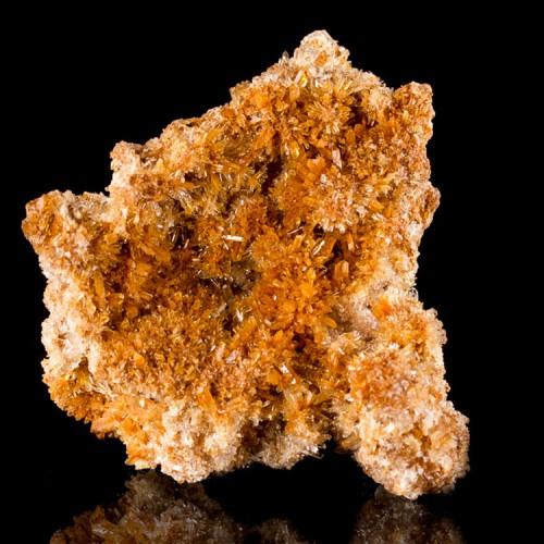 """4.1"""" Orange-Red-Clear CREEDITE Cluster of Gli..."""