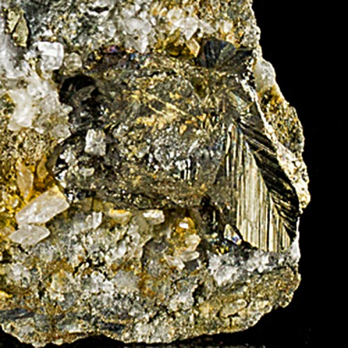 "4.4"" Sharp Brassy Gold CUBANITE Twin Crystals..."