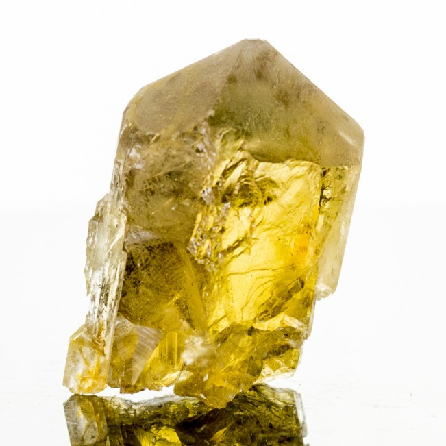 """1.8"""" Lustrous GOLDEN BARITE Clear Terminated Crystal with Gemmy Interior France"""