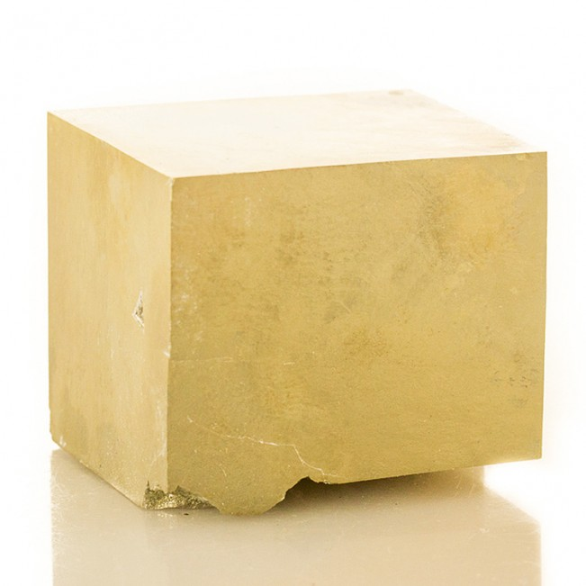 """2.3"""" PYRITE CUBE Amazing Sharp Shiny Crystal Brite Brassy Golden Spain for sale"""