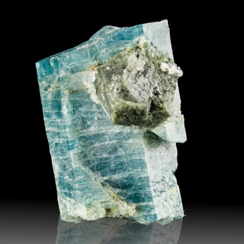 "1.8"" Colorful Deep Blue APATITE Crystal w-Tou..."