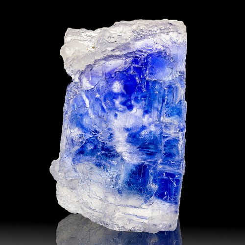 "2.1"" Salt Crystal BLUE HALITE Vivid Color Zon..."