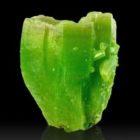 "0.8"" Kelly Green PYROMORPHITE 3 Large Deeply Hoppered Crystals China for sale"