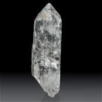 """5"""" Gemmy Double Terminated ENHYDRO QUARTZ Crystal w/Anthraxolite China for sale"""