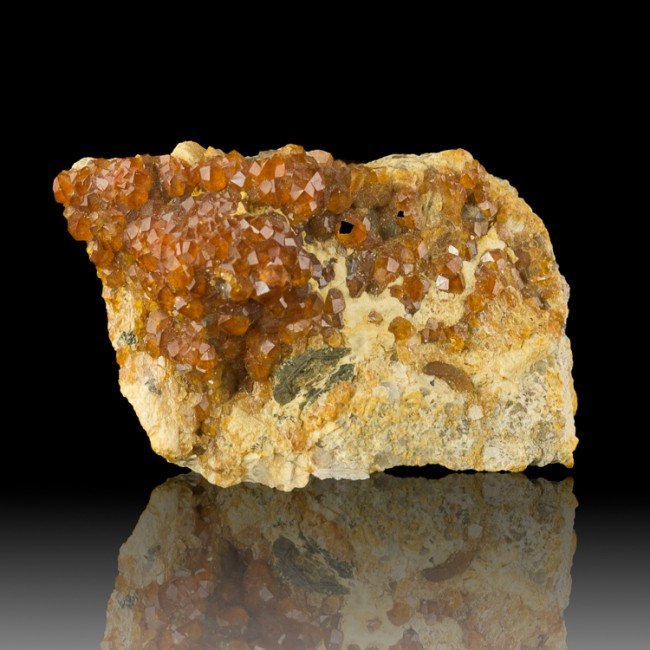 "2.9"" Sharp Sparkling Tangerine Orange SPESSARTINE GARNET Crystals China for sale"