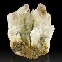 "3.7"" Reverse Scepter SMOKY QUARTZ Sharp Phantom Crystals Wise Mine NH for sale"