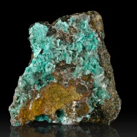 "3.1"" Electric Turquoise Radiating Needle Crystals of AURICHALCITE Chile for sale"