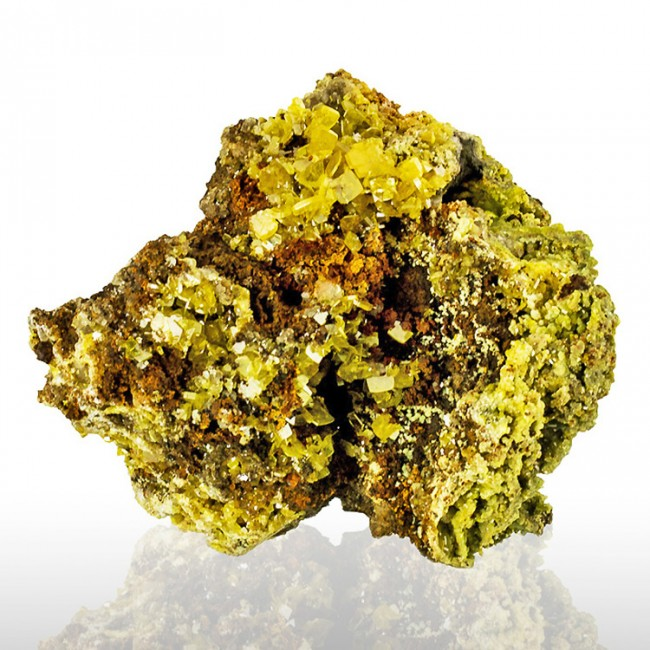 """3.9"""" Gem Clear Tabular Yellow WULFENITE Crystals +Green MIMETITE Mexico for sale"""