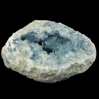 "10.9"" 27LB CELESTITE GEODE Lined w/Gemmy Sky Blue Crystals Madagascar for sale"