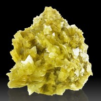 "3.4"" Golden Yellow STAR MICA Loads of 5Point StarShaped Crystals Brazil for sale"