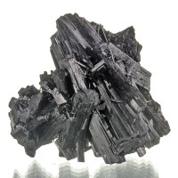 "2.8"" Shiny MIDNIGHT BLACK TOURMALINE Double Terminated Crystals China for sale"