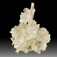 "1.3"" RETICULATED ""SNOWFLAKE"" CERUSSITE Clear Sixling Twin Crystals Iran for sale"
