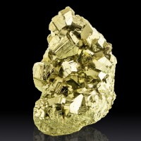 """4.8"""" Gleaming Brassy Flashing Golden Pyritohedral PYRITE Crystals Peru for sale"""