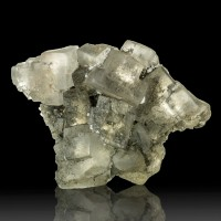 "3.4"" Gemmy Clear HALITE Salt Crystals in Cluster Klodawa Poland for sale"