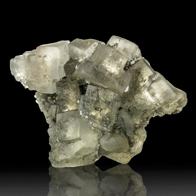 "3.4"" Gemmy Clear HALITE Salt Crystals in Cluster Klodawa Poland for sale"