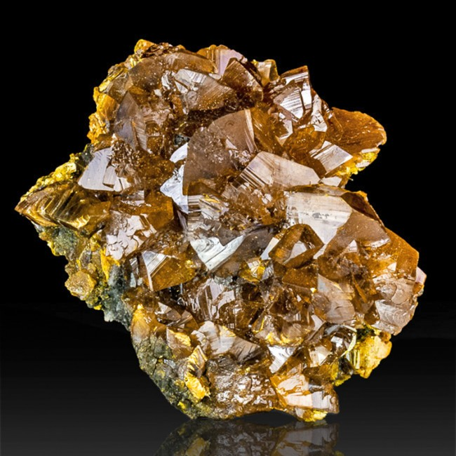 """1.7"""" ORPIMENT Sharp Lustrous Orange Crystals to .8"""" Twin Creeks NV for sale"""