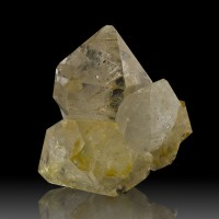 "2.6"" GOLDEN HEALER HERKIMER DIAMOND Cluster 10 Gem Clear Crystals NY for sale"