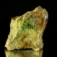 "2.3"" Bright NeonGreen ANNABERGITE SharpTerminated Micro Crystals Greece for sale"