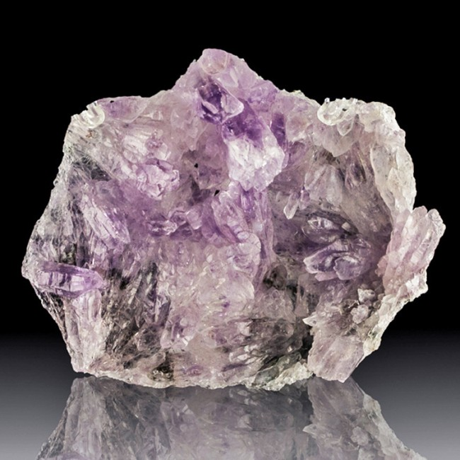 "4.3"" Flower-Like Group of Prismatic AMETHYST Crystals Good Color Brazil for sale"