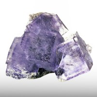 "2.3"" Elmwood PHANTOM FLUORITE 4 Sharp Cubic Crystals w/Purple Zoning TN for sale"