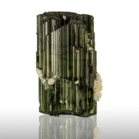 "1.4"" 126ct ForestGreen MultiTermnated ELBAITE TOURMALINE Crystal Brazil for sale"