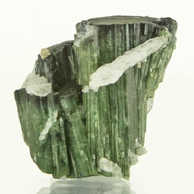 "1.1"" 74ct Green w/DarkGreen Cap ELBAITE TOURMALINE Crystal Group Brazil for sale"