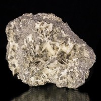 "3.7"" Superb CERUSSITE Sharp Terminated Crystals in Galena 1970s Morocco for sale"