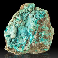"4.2"" Bright Turquoise DRUZY CHRSOCOLLA w/r Quartz Crystal Overcoat Peru for sale"