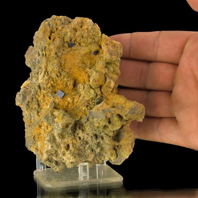 """4.9"""" Rare ShinySharp Dark Blue BOLEITE 4 Crystals to 8mm +Matrix Mexico for sale"""