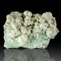"""4.5"""" Spiky White GYROLITE Crystal Balls on Light Green Prehnite India for sale"""
