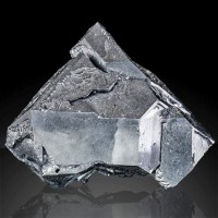 "1.7"" Modified Octahedral GALENA Crystal Bright Metallic Luster Bulgaria for sale"