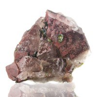 "4.4"" Lustrous RedPurple AMETHYST Crystals w/Green EPIDOTE Sichuan China for sale"