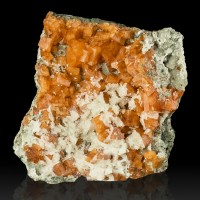 "3.2"" Sharp WetLook Vivid RED ORANGE CHABAZITE Crystals +Calcite Morocco for sale"