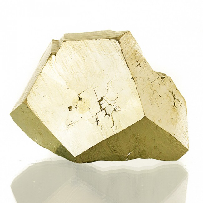"""3.2"""" Brassy Gold MirrorFaced PYRITE Crystal Exceptional Luster Tanzania for sale"""