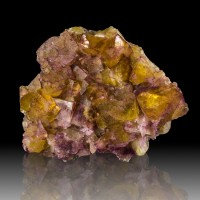 "5.1"" Purple on Yellow Gem PHANTOM FLUORITE Crystal Mi IL ex-Ross Lillie for sale"