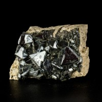 "3.4"" Brilliant Gun Metal High-Flash MAGNETITE CRYSTALS to 1.2"" Bolivia for sale"