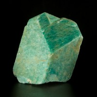 "4"" Vibrant Turquoise Blue AMAZONITE Rare Baveno Twin Crystal Ethiopia for sale"