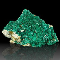 "4.3"" Vibrant Emerald Green DIOPTASE Crystals +Matrix Tantara Mine Congo for sale"