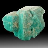 "2.1"" Twinned AMAZONITE Crystals Robins Egg Blue Crystal Peak Colorado for sale"